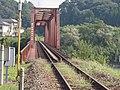 球磨川にかかる肥薩線の鉄橋 Railroad Bridge of Hisatsu Sen - panoramio (1).jpg