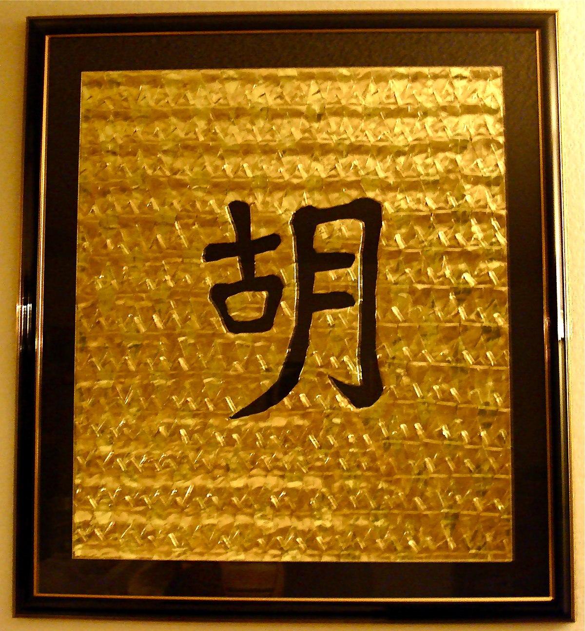 hu surname chinese wikipedia category wikimedia commons wu wade pinyin yue cantonese hanyu mandarin romanization