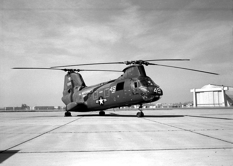 00CH-46A HMM-165 at MCAS Tustin 1966