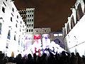 082 Llum BCN, instal·lació Suspès, plaça del Rei.JPG