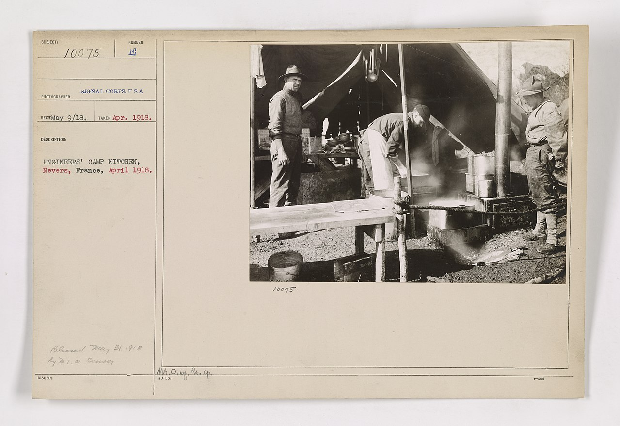 File:111-SC-10075 - Engineers\' camp kitchen, Nevers, France, April ...