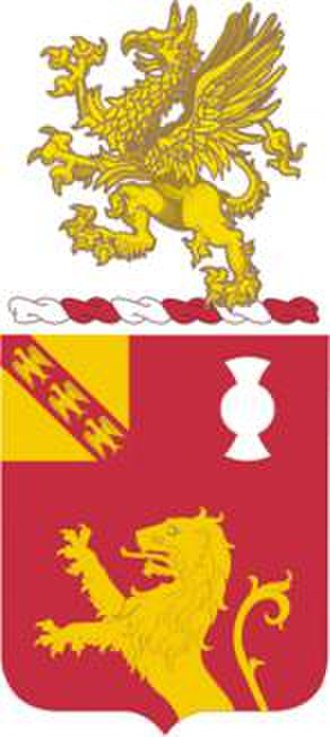 119th Field Artillery Regiment - Coat of arms
