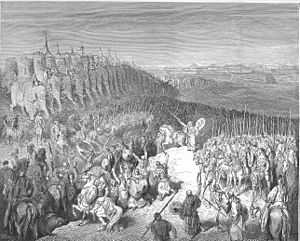 Judas Maccabeus - Judas Maccabeus before the army of Nicanor, by Gustave Doré