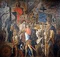 1490 Mantegna Der Triumphzug Caesars II Standartenträger anagoria.jpg