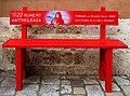 1522 una panchina rossa per ricordare tutte le donne vittime di violenza. No alla violenza sulle donne.jpg