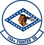 154th Fighter Squadron emblem