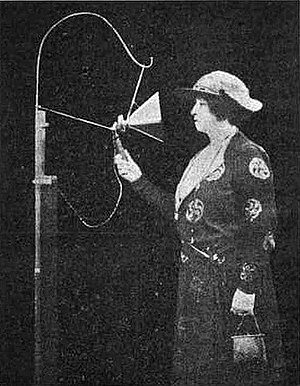 AM broadcasting - Nellie Melba making a broadcast over the Marconi Chelmsford Works radio station in England on 15 June 1920