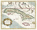 1763 Terreni - Coltellini Map of Cuba and Jamaica - Geographicus - Cuba-terrini-1763.jpg