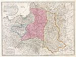 Map of the truncated territory of Poland (pink) after the Second Partition, published in London in 1794