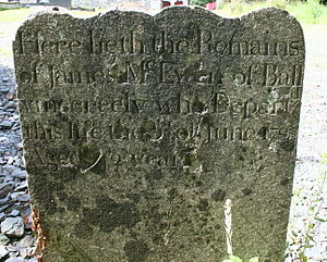 Battle of Saintfield - Image: 1798 grave James Mc Ewen