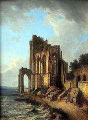 Church ruins by the sea