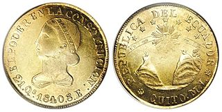 Ecuadorian doubloon described in Moby Dick