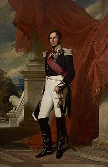 König LeopoldI. (Gemälde von Franz Xaver Winterhalter im Roten Empfangszimmer von Schloss Ehrenburg in Coburg) (Quelle: Wikimedia)