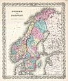 1855 Colton Map of Scandinavia, Norway, Sweden, Finland - Geographicus - SwedenNorway-colton-1855.jpg