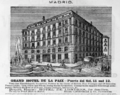 1885 Hotel Paix Madrid ad Harpers Handbook for Travellers in Europe.png