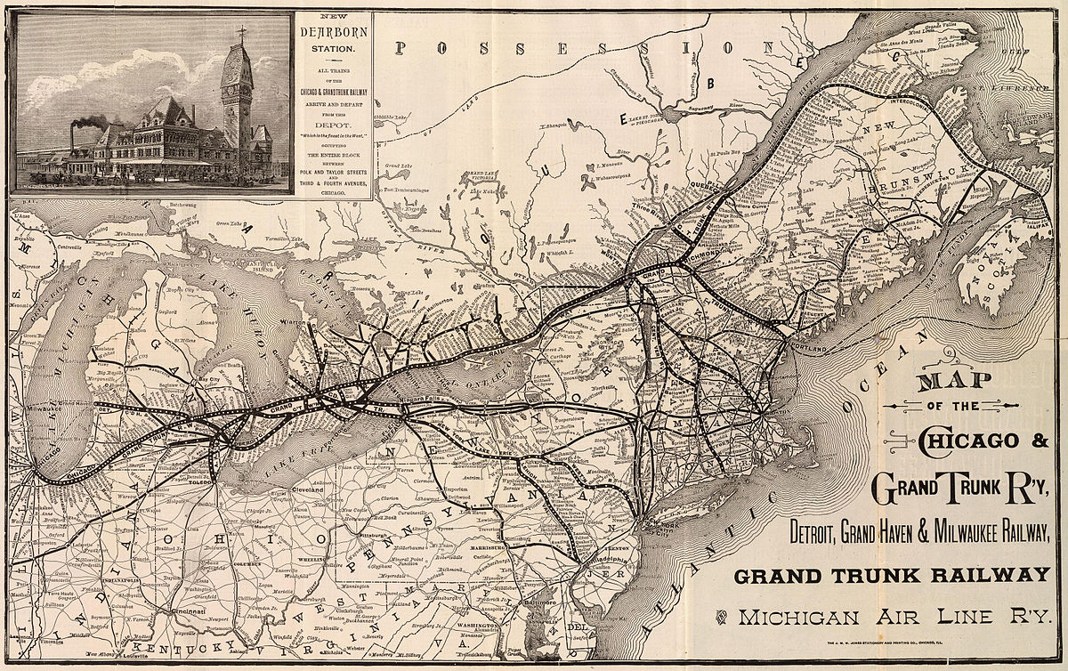 Grand Trunk Western Railroad Wikipedia - Railroad map us 1880