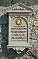 1898 memorial plaque to Franz Josef I.jpg