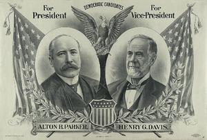 Henry Gassaway Davis - Parker/Davis campaign poster