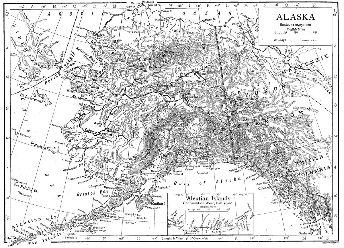 Alaska Territorys Atlarge Congressional District Wikipedia - Map of us and alaska