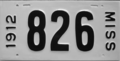 1912 Mississippi license plate.png