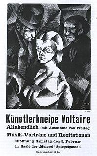 Cabaret Voltaire (Zurich) Nightclub in Zurich, Switzerland, notorious birthplace of the Dada art movement