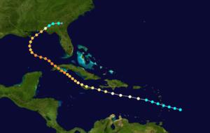 1917 Nueva Gerona hurricane - Image: 1917 Atlantic hurricane 4 track