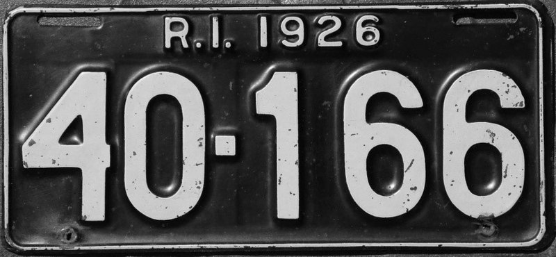 File:1926 Rhode Island license plate.jpg