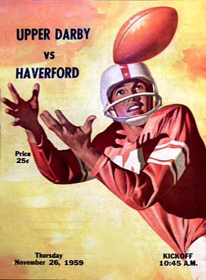 Haverford High School - Haverford vs. Upper Darby Thanksgiving Game Program from 1959