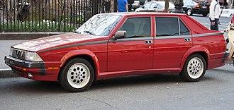 """Ermanno Cressoni - Alfa Romeo Milano (US version of the 75), an example of Cressoni's """"La Linea"""" design style"""