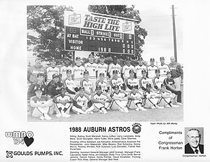 Auburn Community Baseball - Image: 1988 Auburn Astros team photo