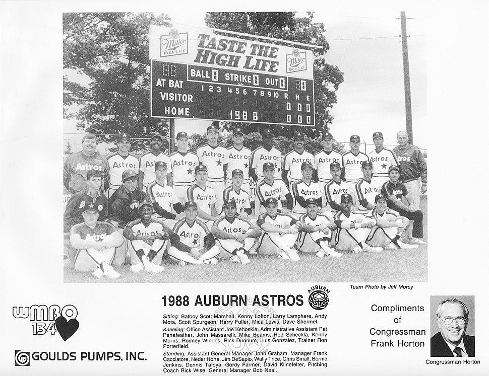 1988 Auburn Astros team photo