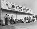 1 mile S. of Tulare, Tulare County, California. Line up of relief clients, early in the morning, out . . . - NARA - 521808.tif