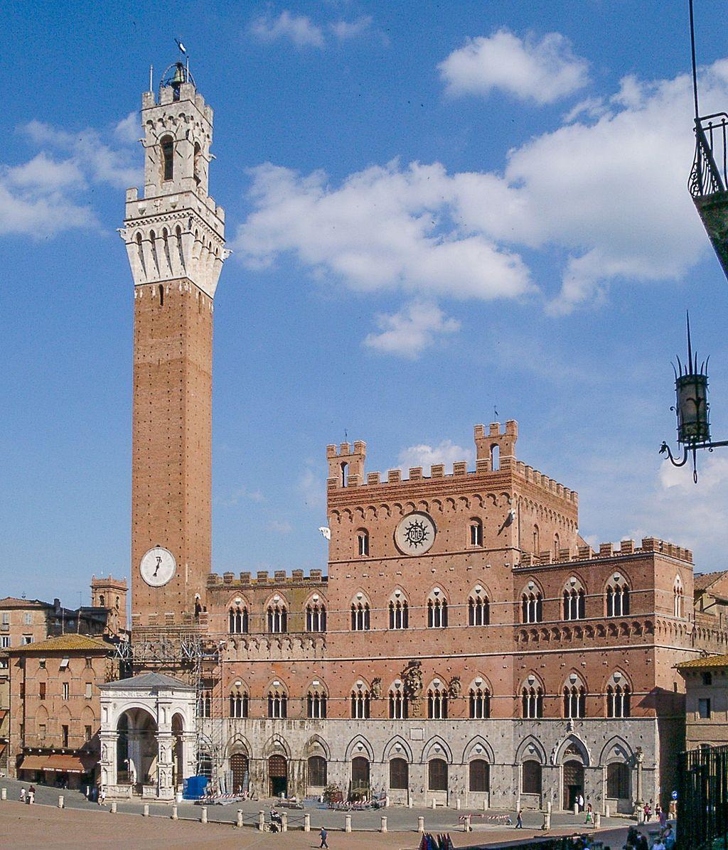 Palazzo Pubblico, facciata, Piazza del Campo, Siena
