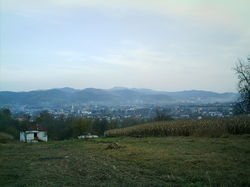 View on Teslić from Krstova Gora hill