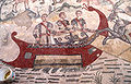 2009 09 27 Villa del Casale red ship on mosaic.jpg