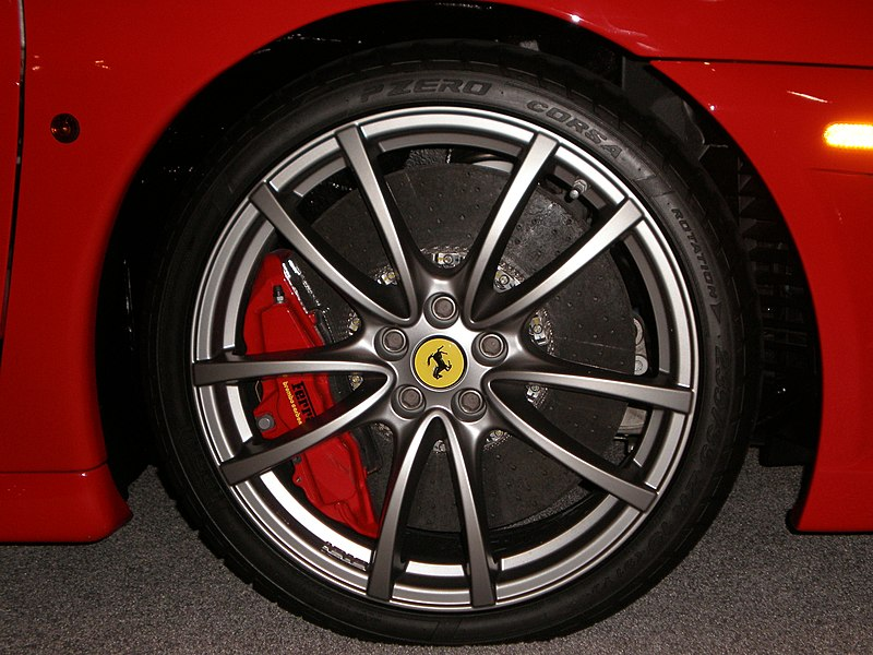 File:2009 red Ferrari 430 Scuderia wheel.JPG