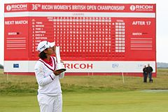 Tseng with the Women's British trophy