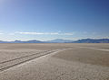 2014-07-05 18 27 26 View towards Pilot Peak, Nevada from milepost 17 on westbound Interstate 80 in the Great Salt Lake Desert, Utah.JPG