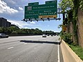 2019-05-27 15 26 01 View west along the Capital Beltway (Interstate 495) at Exit 28A (Maryland State Route 650 North-New Hampshire Avenue North, White Oak) entering Montgomery County from Prince Georges County, Maryland.jpg