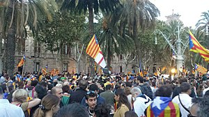 Operation Anubis - Demonstration on 21 September 2017 in front of the High Court of Justice of Catalonia in support of individuals arrested by during police raids.