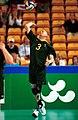 231000 - Standing volleyball Dan Byrne serves - 3b - 2000 Sydney match photo.jpg