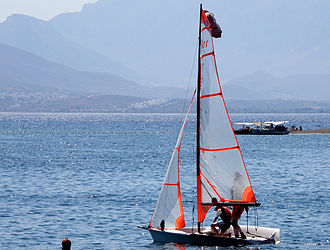 29er (dinghy) - Image: 29er going out