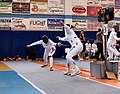 2nd Leonidas Pirgos Fencing Tournament. The fencers Irini Mavrikiou and Nefeli Rodopoulou.jpg