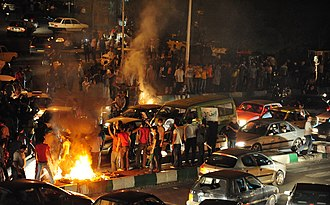 Timeline of the 2009 Iranian election protests - Protests at night in Tehran on June 15