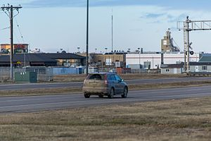 Alberta Highway 4 - 43 Street in south Lethbridge, the busiest section of Highway 4