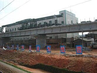Guangzhou–Shenzhen railway - Fourth track of Guangshen railway under construction