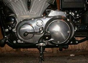 Harley-Davidson Sportster - A typical 5-gear, foot-shift transmission on an HD Sportster