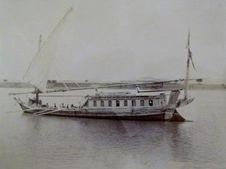 Dahabeah - Dahabeah on the Nile, 1891