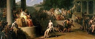 Jean-Pierre Saint-Ours - Wrestling at The Olympic Games, 1786–1791, Musée d'Art et d'Histoire, Geneva, 209.5 × 386cm