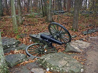 Stones River National Battlefield - A cannon at Stones River National Battlefield